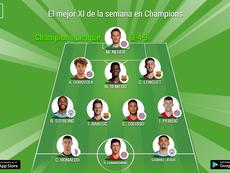 Este es el once ideal de la semana de la Champions para la UEFA. BeSoccer