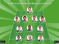 Once ideal de los ausentes de México en la Copa Oro. BeSoccer