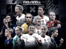 Le XI FiFPro féminin de l'année 2019. Twitter/FIFA_com