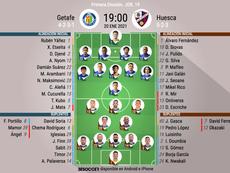 Onces oficiales de Getafe y SD Huesca. BeSoccer