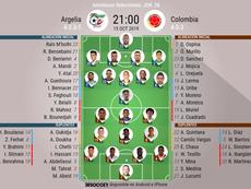 Sigue el directo del Argelia-Colombia. AFP