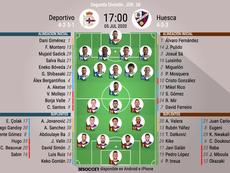Onces del Deportivo-Huesca. BeSoccer