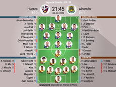 Onces del Huesca-Alcorcón. BeSoccer