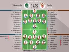 Sigue el directo del Krasnodar-Sevilla. BeSoccer
