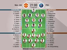 Formazioni ufficiali Manchester United-PSG. BeSoccer