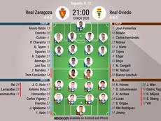Onces del Zaragoza-Oviedo. BeSoccer