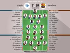 Alineaciones oficiales del Barcelona-Alavés. BeSoccer