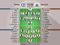Onces oficiales del Chelsea-Newcaste, partido de la Jornada 9 de la Premier 2019-20. BeSoccer
