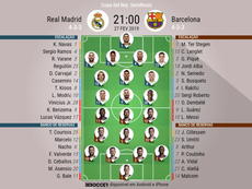 Onze inicial Real Madrid - FC Barcelona. BeSoccer