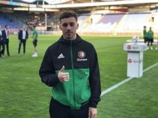 En el Pizjuán ya se imaginan a Kökcü en las filas de Lopetegui. Twitter/Feyenoord