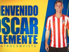 Óscar Clemente ya es de Las Palmas. Twitter/UDLP_Oficial
