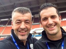 Óscar Fernández apoyó a Simeone. ÓscarFernández