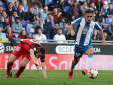 Melendo, baja contra el Villarreal. Twitter/RCDEspanyol