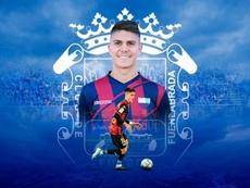Óscar Pinchi, nuevo jugador del Fuenlabrada. CFFuenlabrada