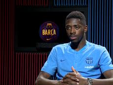 Dembélé concedió una extensa entrevista. Captura/BarçaTV