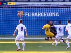 Ousmane Dembélé marque pour son retour avec le Barça. Captura/FCBarcelona