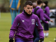 Fornals spoke with the club's media. Twitter/WestHam