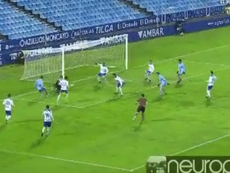 Pantallazo del gol de Abel Ruiz ante el Zaragoza. Twitter