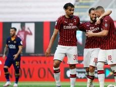 Çalhanoglu e Rebic marcaram os gols do Milan sobre a Roma. ACMilan