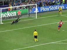 Simeone a évoqué la finale de la LDC à Milan. AFP