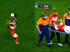 Espeluznante patada en Francia. Captura/Canal+Sport