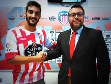 Pau Cendrós cambia el Lugo, en el que jugó la pasada temporada, por el CD Mirandés. Twitter