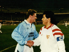 Monchi compartió vestuario con el argentino en la temporada 1992-93. EFE
