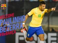 Paulinho Bezerra, nuevo jugador de Barcelona. FCBarcelona