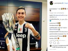 Paulo Dybala celebró la Supercoppa en las redes sociales. Instagram/paulodybala