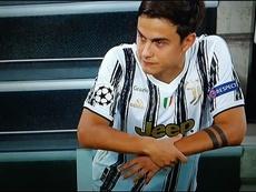 Dybala había llegado justo por una lesión muscular. Captura/Movistar