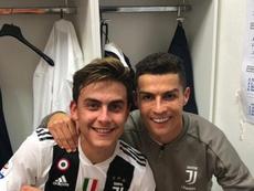 Paulo Dybala e Cristiano Ronaldo. Twitter/Dybala