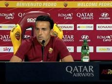 Pedro sueña con volver a la Champions en su presentación con la Roma. Capturas/Roma