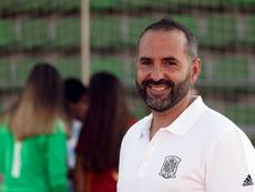 Pedro López analizó la victoria de la Sub 19. EFE