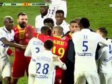 Polomat e Barreto desentenderam-se em encontro da Ligue 2. CapturaBeINSports