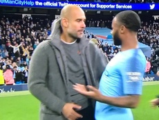 A Guardiola no le gustó la acción de Sterling. Captura
