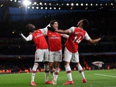 Aubameyang marca dois gols e Arsenal ganha de virada. Capture/SkySports