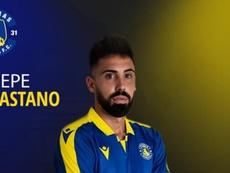 Pepe Castaño, nuevo jugador del Asteras Tripolis. Twitter/AsterasfcTwit