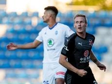 El Slavia volvió al fútbol con triunfo. Twitter/slaviaofficial