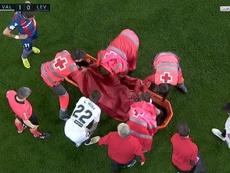 Piccini dio el susto en el derbi valenciano. Captura/beINSports