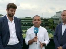Piqué pasó por Wimbledon. Captura/Vamos