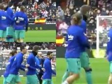 La piña de la discordia entre Piqué y Messi. Captura/Cuatro