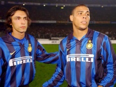 Ronaldo and Andrea Pirlo played together at Inter. AFP