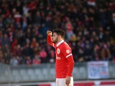 Pizzi marcou o terceiro gol do Benfica. EFE