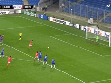 Pizzi scored for Benfica. Screenshot/MovistarLigadeCampeones