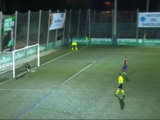 Ramon saved Pjanic's penalty to keep it at 0-0. Screenshot/DAZN