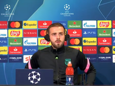 Pjanic spoke at the prematch for Barca v Juventus. Screenshot/BarcaTV