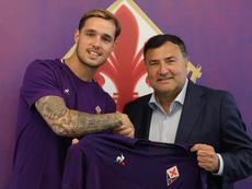 Pol Lirola ya es de la Fiorentina. Twitter/acffiorentina