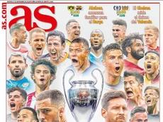 Estas son las portadas de la prensa deportiva de hoy. AS