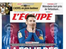 O jornal francês não acredita nas intenções do Barça. LEquipe