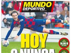 As capas da imprensa esportiva. MundoDeportivo